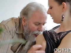 Juvenile babe defeated off out of one's mind an old guy-240p