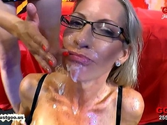 Family - Emma Starr'_s first Bukkake