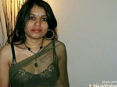 Kavya Sharma Indian Pornstar Nude Campo Transparent Saree