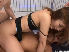 Sucking fucking increased by gang bang creampie stuffing the harlot