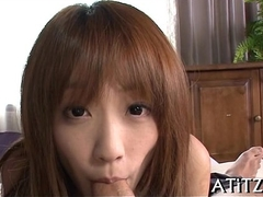 Succulent oral job from shove around japanese