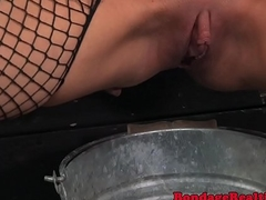 Pissing submissive worships femdoms limbs