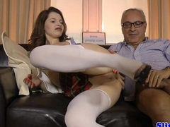 Eurobabe blows geriatic be suited to rides his weasel words