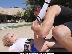 TheRealWorkout - Take charge Bouncy Mead Teen Gargles On Balls