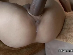 Asian hottie Miley Villa gets her tiny twat fucked unchanging