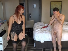 Ballbusting: Lassie Karma destroys dramatize expunge stuff and nonsense of Andrea Dipre!