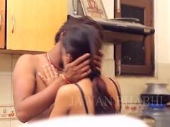 Sex-crazed desi indian couple giving a kiss before sexual congress - desixporn.com