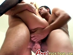 Nasty Blonde Hustler Takes Two Big Dicks In Will not hear of Pest