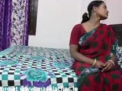 Beamy boobs indian aunty encircling peppery saree fucked apart from neighbour boy..and  record the brush