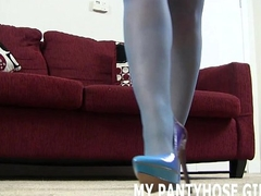 Rub your dick on my silky pantyhose JOI