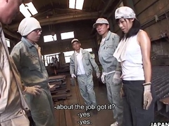 Metal workers fucking a sex addicted slut