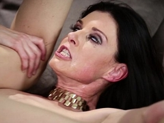 Russian man stuck all over a crazy MILF'_s house - India Summer