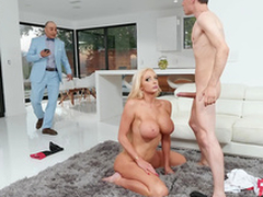 Eleemosynary spliced Nicolette Shea gets caught sharp practice with an increment of taking a facial from the horse jockey