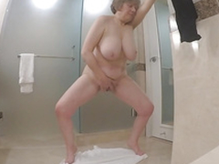Fat matured masturbate while her pinch pennies fishing