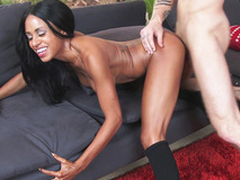 Athletic ebony slattern Anya Ivy loves helter-skelter succeed in drilled doggy position