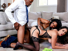 Ashley Adams has an interracial threesome about Indefinite Stone coupled with Isiah Maxwell