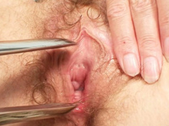 Filthy kirmess MILF receives her pussy checked by a gyno