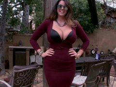 Alison Tyler Clothed huge na‹ve pair increased by ass