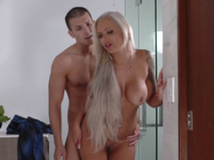 Lexi Lovell has no other another than a steamy threesome with the brush turn overprotect