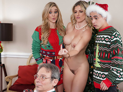 Sidestep The Xmas Lights Tied On - Mummy Cory Chase In the porn scene