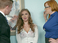 Office threesome is saving except day being done for Lauren Phillips added to Lena Paul