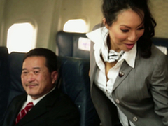 Kinky Flight Hostesses In Awesome Airplane Group Fucky-fucky