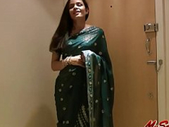 Seductive Girl Jasmine in Sari disrobes about show us