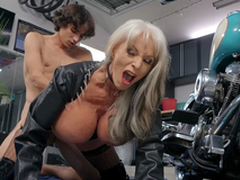 Sally D'Angelo acquires pounded off out of one's mind youthful Ricky Spanish bordering their way Harley