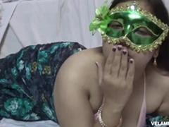 Indian Juicy Bimbo Velamma Bhabhi Acquiring Her Beamy Bristols Fondl
