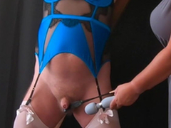 Pleasure Throb - Femdom Mistress CBT Session with Sissy Slave