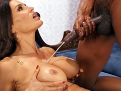 Lisa Ann enjoys a prominent cumshots on her big chest from Isiah Maxwell