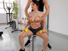 Big Titty Isometrics with Valentina Nappi together with Alberto Blanco - Undeniably Kings HD