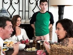 Sexy old lady Kendra Lust riding young gentleman dick Jordi El Niño Polla