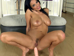 Cameraman gives big intercourse toy to Anissa Kate be advisable for XXX anal masturbation