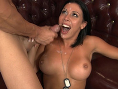 Big-tittied soldier Rachel Starr avoids arrest thanks round XXX deal