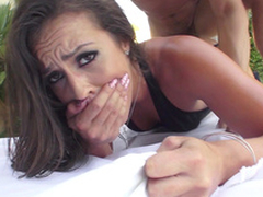 Kelsi Monroe receives maximum wonder when XXX buddy copulates one as well as the other holes