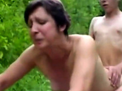 Forest XXX Sex Fuckers 1 - Elderly Woman & Young Boy - Sex Instalment