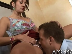 Hot boob is fingered and screwed