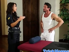 Bigtitted policeman massaged and seduced into sexual intercourse