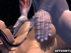 Prexy 3D babe getting fucked enduring overwrought a animal